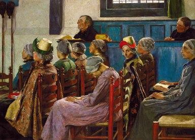Gari_Melchers_-_The_Sermon_(1886)